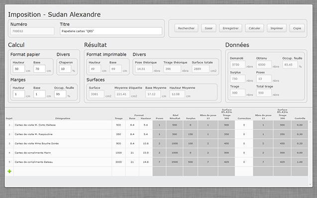 Webapplication Impositions & Amalgames