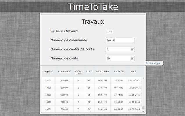 Webapplication TimeToTake